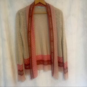 Cream Red and Pink Shrug Sweater